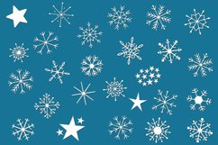 Snowflake Dingbats | A Font with Snowflake and Star Dingbats Product Image 2