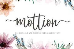 Mottion // Fashionable and Modern Calligraphy Product Image 1