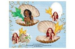 Mermaid ClipArt Afro American Mermaid Clip Art Product Image 2