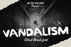 Vandalism - Street Brush Font Product Image 1