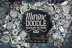 Marine Doodles Seamless Patterns Product Image 1