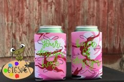 Pink Camo Pink Camouflage Can Cooler Mockup Product Image 2