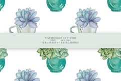 Succulents Seamless Patterns Product Image 12