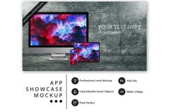 psd mockup with iPhone 11 Pro, iPad Pro, iMac Pro Product Image 1