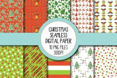 Watercolor Christmas Seamless Digital Papers Set 2 Product Image 1