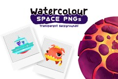 Watercolor Space Pattern Set Product Image 3