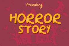 Horror Story Font - A Spooky Brush Font Product Image 1
