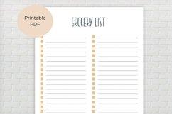 Grocery List Printable Product Image 2