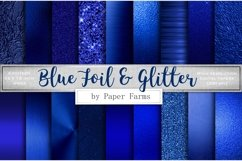 Blue foil glitter textures Product Image 1