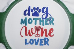 Dog Mother Wine Lover Embroidery design, 5 sizes Product Image 3