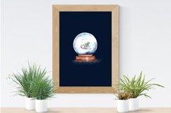Christmas,Snow Globe,Christmas tree,Sublimation,Watercolor Product Image 3