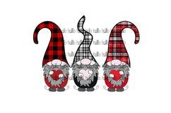 Plaid Gnomes, Christmas Gnomes, Sublimation Product Image 1