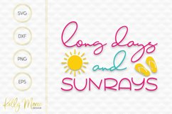 Long Days and Sunrays SVG File Product Image 2
