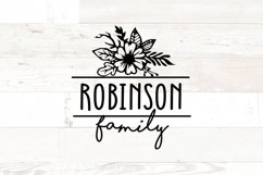 Floral Family Name Sign Product Image 1