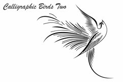 Calligraphic Birds Two Product Image 2