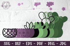 3D Cactus Mandalas, Layered Cactus, Papercut Succulent, DXF Product Image 2