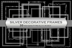 Silver Decorative Frames Clipart Product Image 1