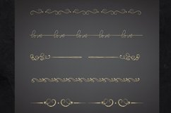 22 Page Dividers and Borders, Gold Foil Clipart Dividers Product Image 2