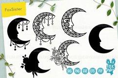 Moon mandala svg bundle, Svg Png Pdf Eps Dxf, Moon svg Product Image 2