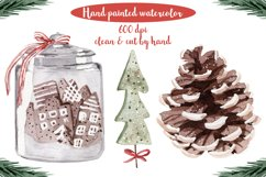 Rustic Christmas Watercolor DIY Set Hand painted Product Image 6