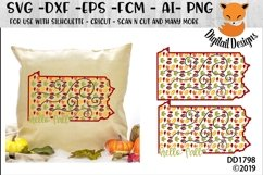 Pennsylvania Autumn Fall Leaves Pattern SVG Product Image 1
