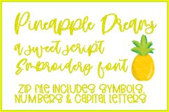 PINEAPPLE DREAMS Embroidery Font Product Image 1