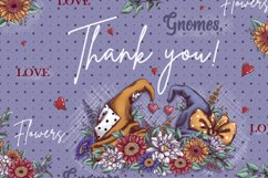 Gnomes, love and flowers. Hand-drawing clipart. Product Image 9