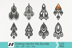 Earring Svg, Earring Template Svg, Leather Earring Svg Product Image 2