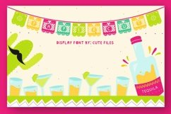Papercut blocks font a mexican party banner Product Image 1