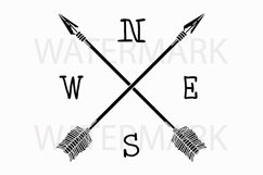 Two Arrow with N W E S - SVG/JPG/PNG Hand Drawing Product Image 1