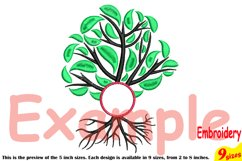 Family Tree Circle Embroidery Design Machine Instant Download Commercial Use digital Outline family love Frame Deep Roots Branches 206b Product Image 3