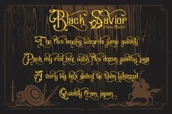 Black Savior - decorative calligraphy Display Font Product Image 3
