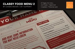 Classy Food Menu 2 Product Image 1