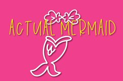 Overboard - A Mermaid Font Duo - Dingbat Font Product Image 3