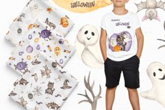 Halloween Watercolor. Clipart, cards, patterns, frames Product Image 3