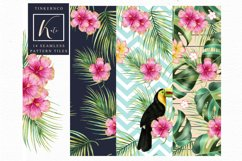 Tropical summer Seamless Travel pattern tiles. Product Image 5