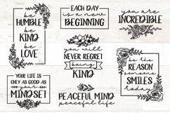 Vol 2 - Inspirational Quotes svg Bundle Floral Product Image 1