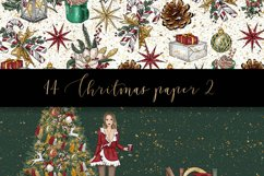 Christmas digital paper pack Product Image 3