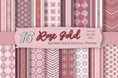 Rose Gold Digital Paper Pack Product Image 1