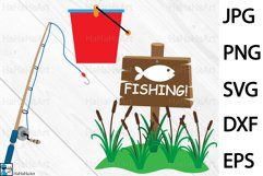 Fishing Designs - Clip art / Cutting Files 101c Product Image 2
