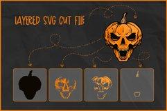 Halloween SVG, Skull Pumpkin SVG, Jack O'Lantern Skull Rocks Product Image 2