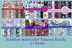 Mini bundle of watercolor seamless patterns.Digital paper Product Image 1