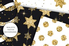 Christmas Glitter Seamless Pattens. Product Image 2