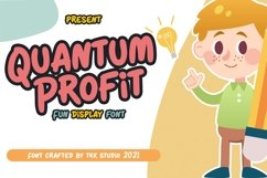 Quantum Profit - Fun Display Font Product Image 1