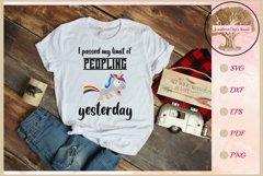 Unicorn SVG   Funny Peopley Quote Rainbow Unicorn Product Image 1