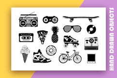 Back to the 90's. Hand Drawn Icons Product Image 4