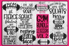 GYM Bundle - 12 Designs - Vol 2 - SVG PNG EPS DXF Product Image 1