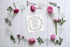 Wreath Wedding Invitation Product Image 2