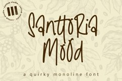 Santtoria Mood - A Quirky Monoline Font Product Image 1