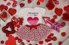 Heart Melt SVG, Valentine's cut file, Love svg Product Image 6